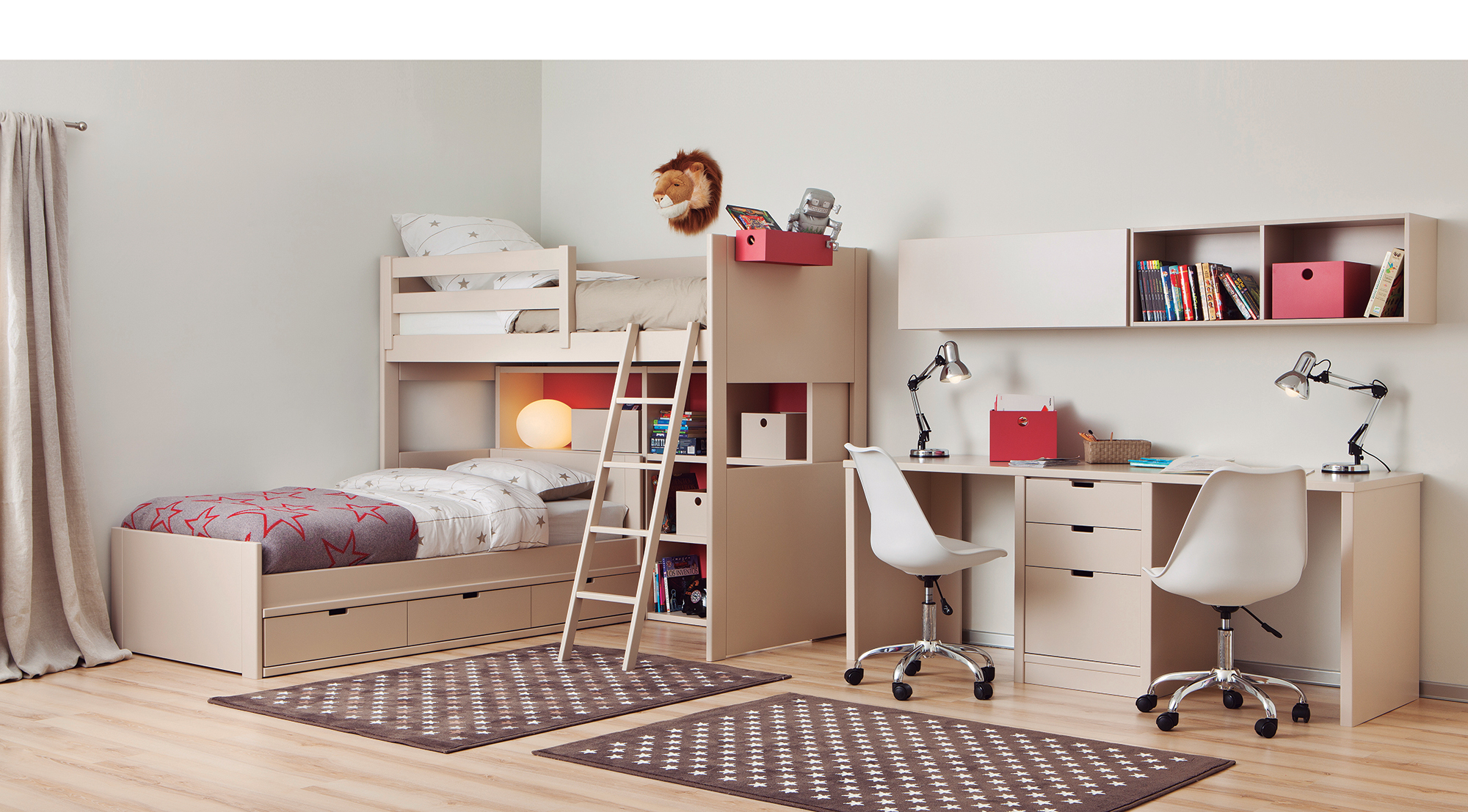 Partage Chambre Fille Garcon comment intégrer un bureau double dans la chambre enfant