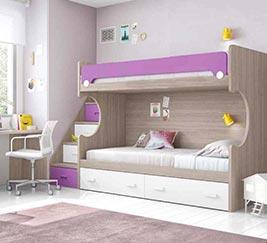 lit superposé avec escalier
