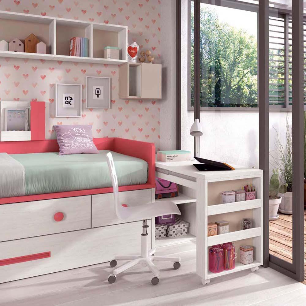 lit superposé avec échelle