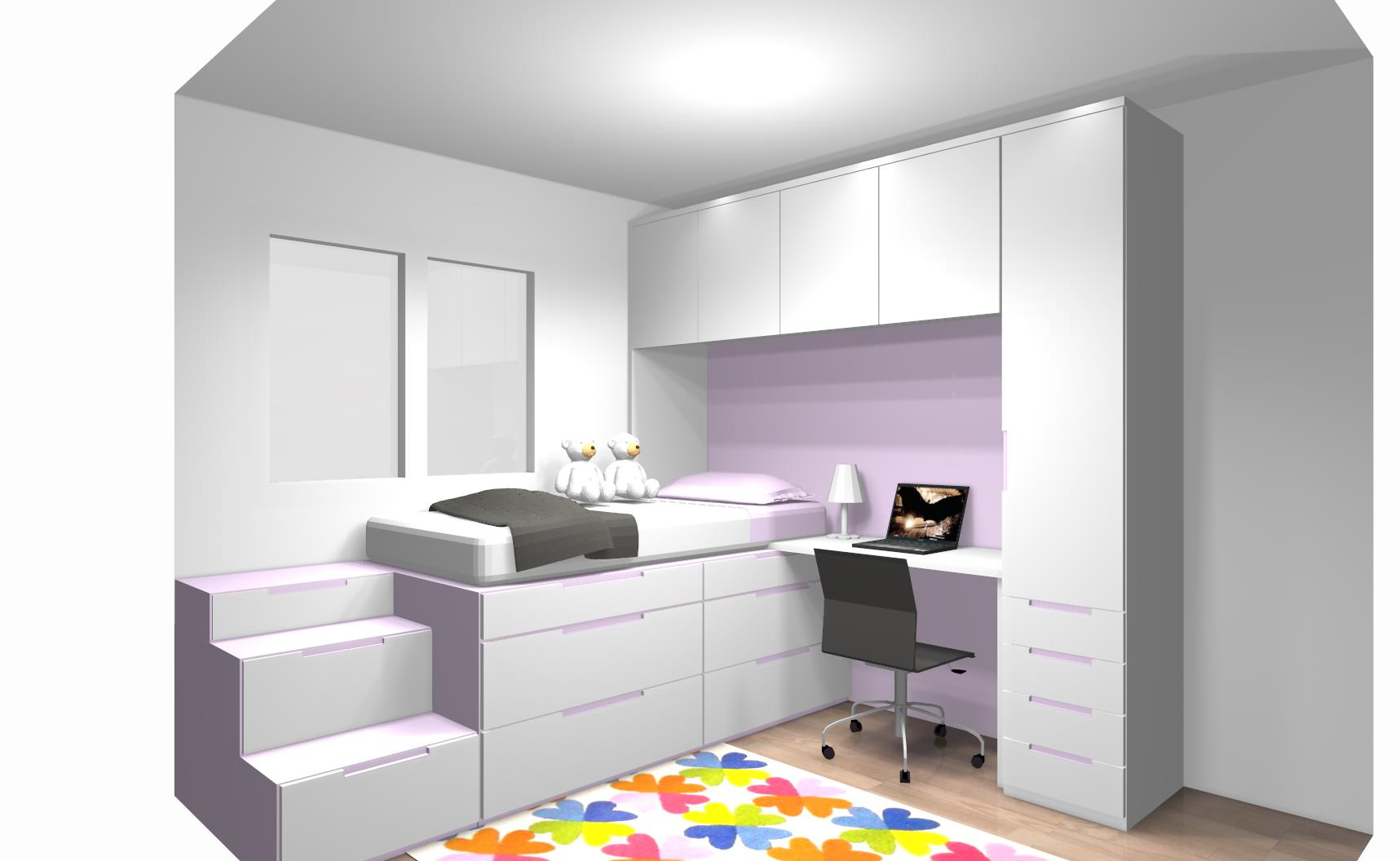 projet 3d lit superposé décalé sonuit