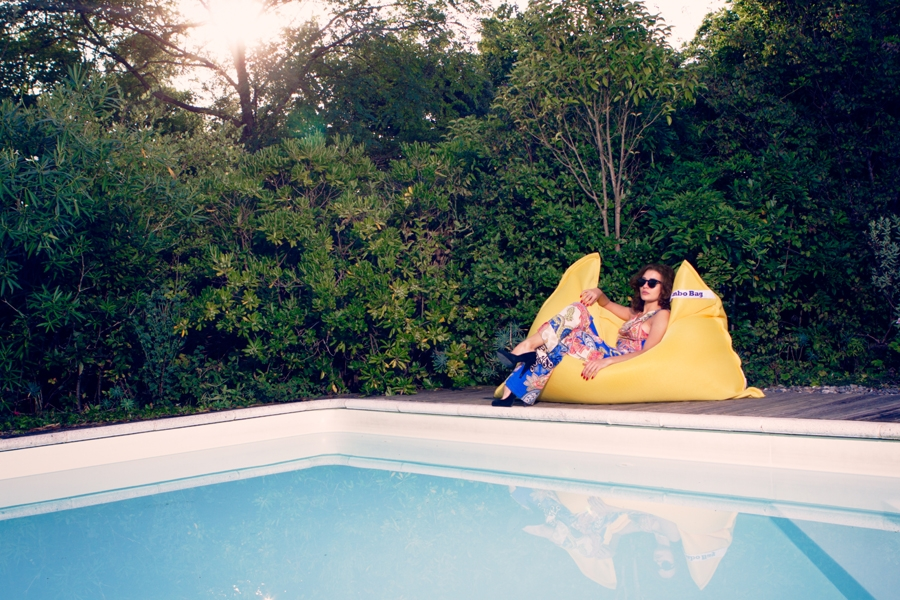 pouf geant flottant pour piscine swimming bag jumbo bag so nuit. Black Bedroom Furniture Sets. Home Design Ideas