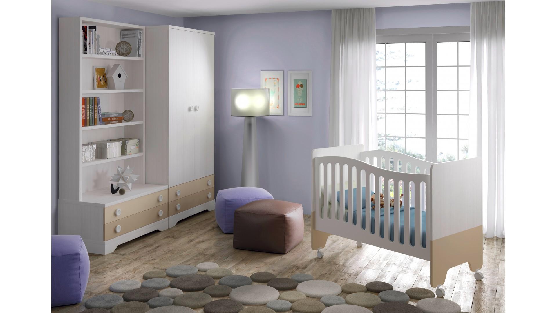 Berceau bébé Bi-couleur - GLICERIO