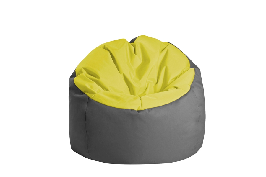 pouf geant bowly bicolore super confortable jumbo bag. Black Bedroom Furniture Sets. Home Design Ideas