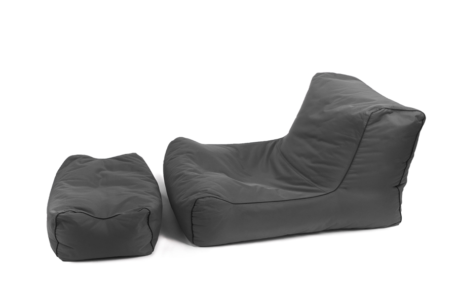 fauteuil pouf geant lazy avec repose pieds jumbo bag. Black Bedroom Furniture Sets. Home Design Ideas