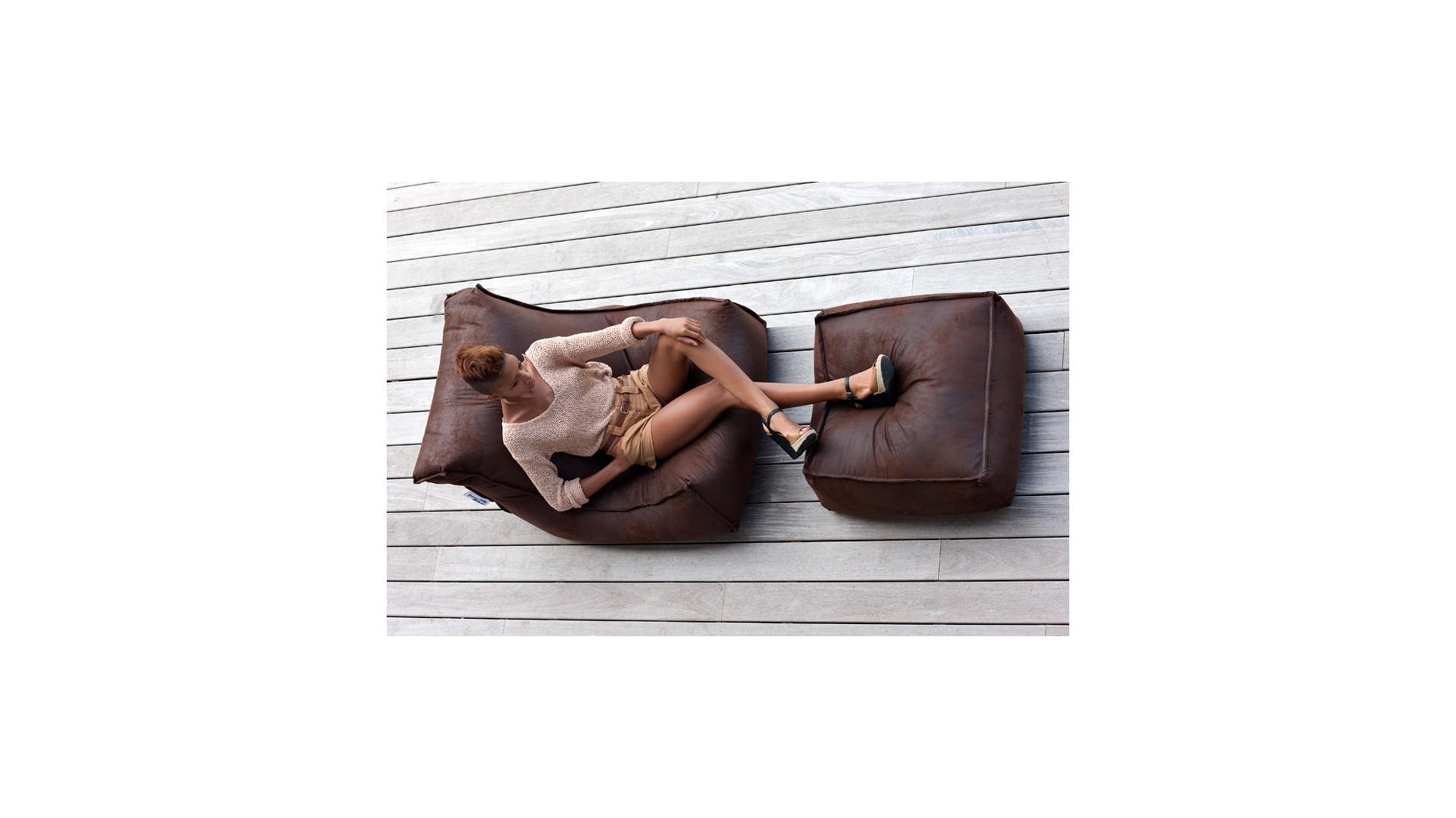 Fauteuil geant avec repose pieds Blues - JUMBOBAG