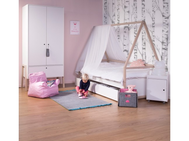 Table de chevet Nordic Acacia blanc - CHILDWOOD