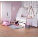 Armoire enfant 2 portes 1 tiroir Nordic Acacia blanc - CHILDWOOD