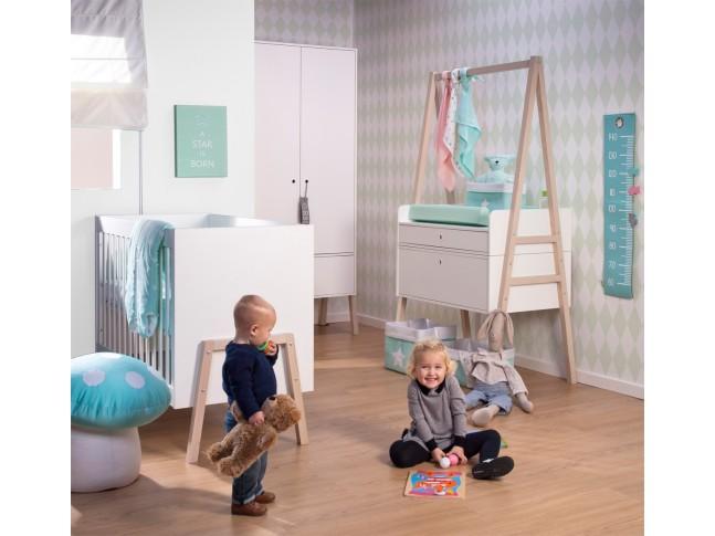 Table à langer convertible en bureau Nordic Acacia blanc - CHILDWOOD