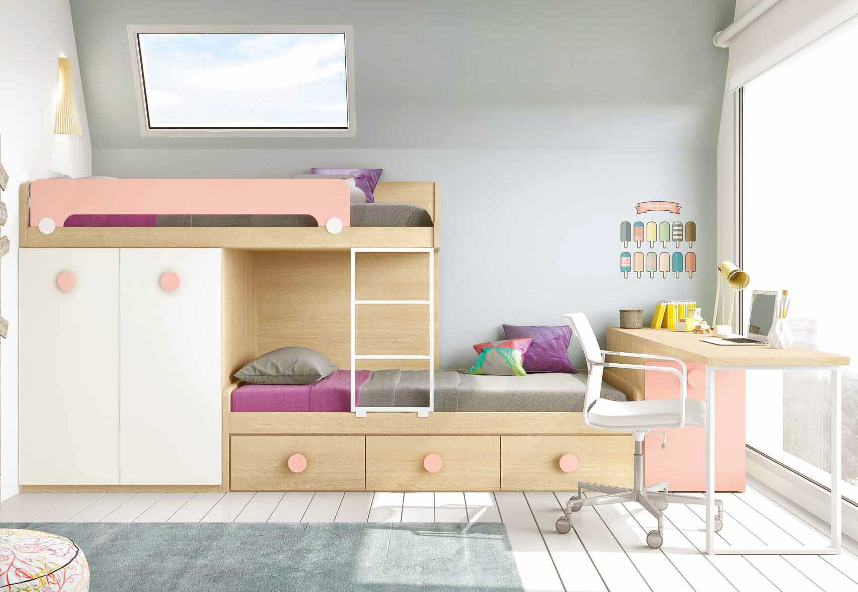 lit enfant avec bureau lit mezzanine avec bureau coulissant enfant bon achat vente lit. Black Bedroom Furniture Sets. Home Design Ideas