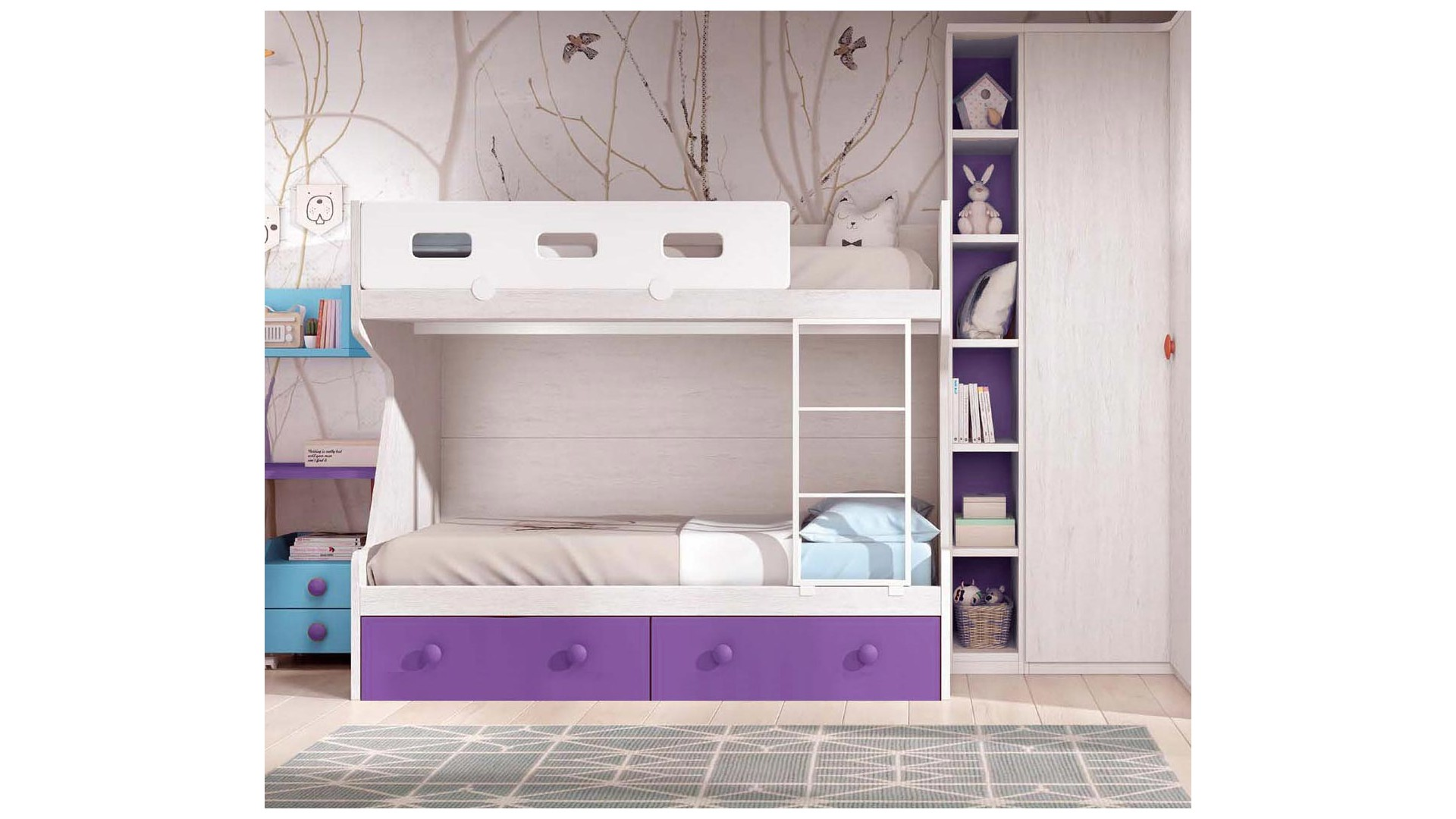 lits superpos s enfants fun et super pratique glicerio so nuit. Black Bedroom Furniture Sets. Home Design Ideas