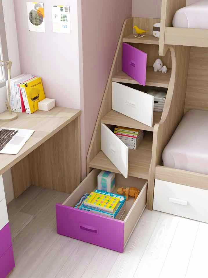 lit superpos enfant et escalier personnalisable. Black Bedroom Furniture Sets. Home Design Ideas