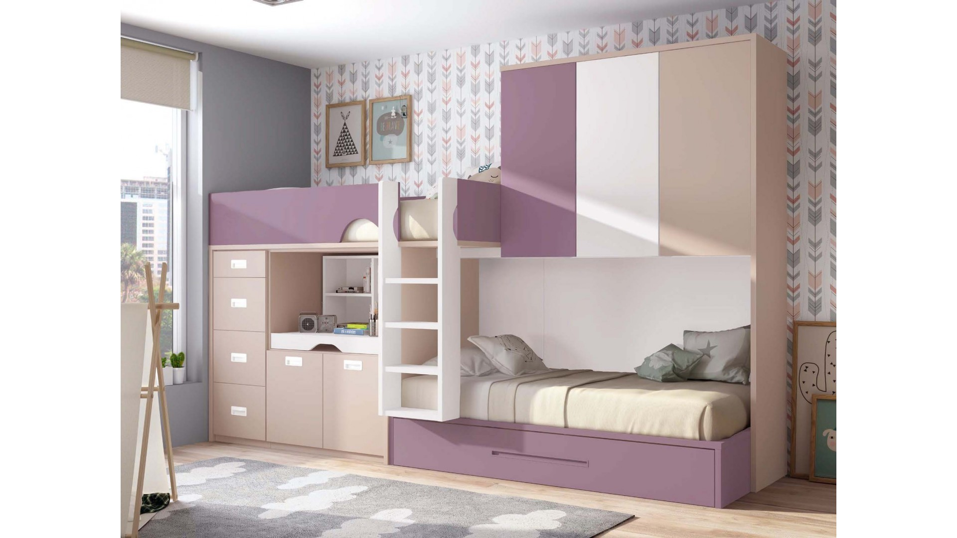 lit superpos fille personnalisable lit gigogne glicerio so nuit. Black Bedroom Furniture Sets. Home Design Ideas