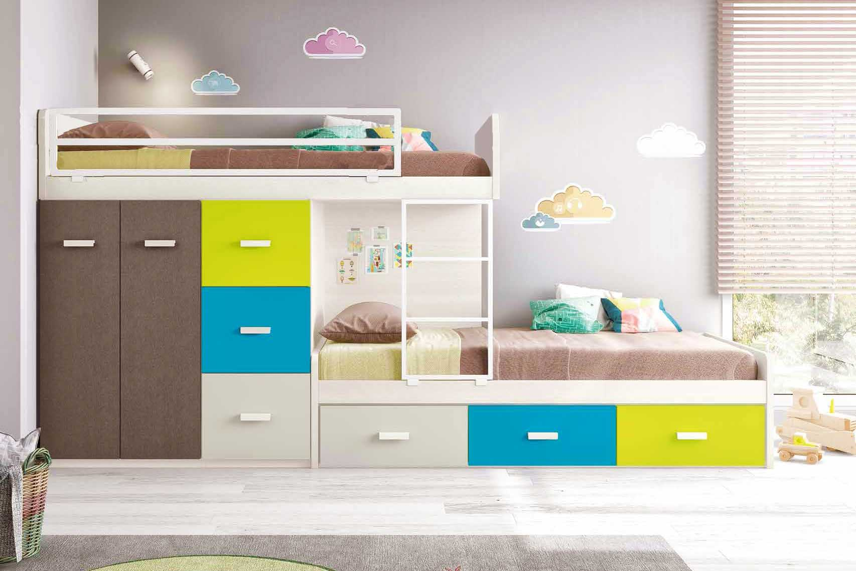 Lit superpos enfant pour une chambre enfant fun for Barriere de lit superpose