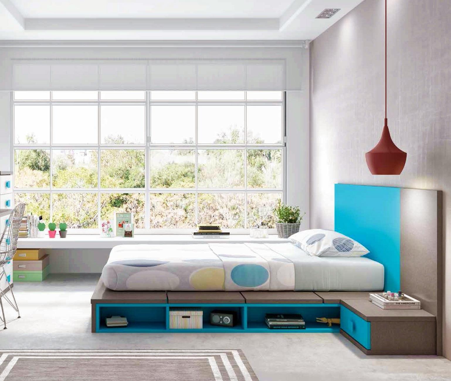 """Lit japonais futon """"couchage 140 x 190"""" + 1 chevet PERSONNALISABLE - GLICERIO"""