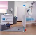 Armoire enfant 2 portes 1 tiroir Quadro blanc - CHILDWOOD
