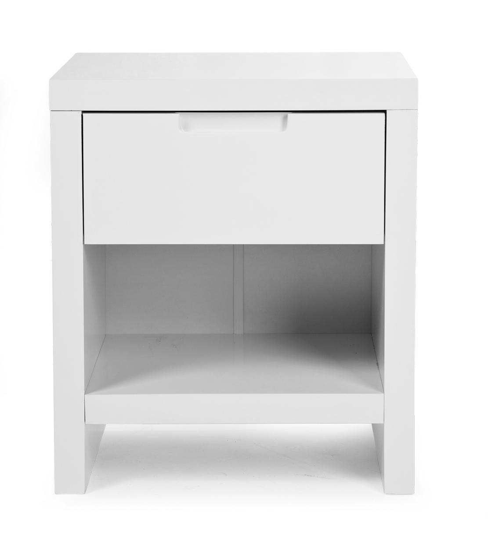 Table de chevet pour chambre enfant quadro blanc for Table de chevet enfant