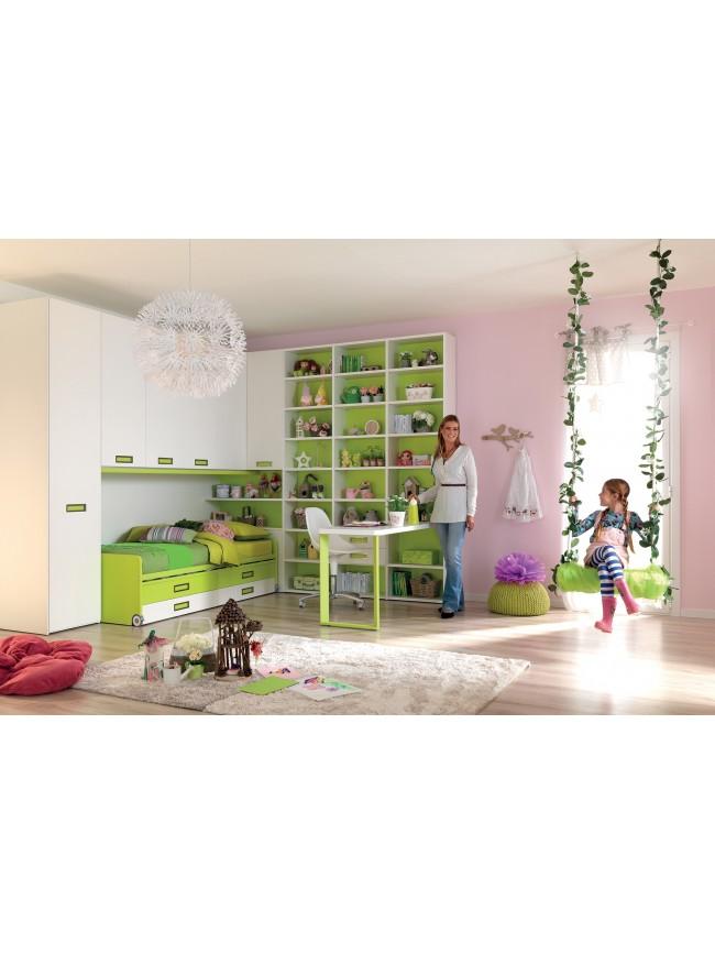 Lits superpos s cottage blanc pour chambre enfant for Chambre adulte complete venise avec tiroir lit