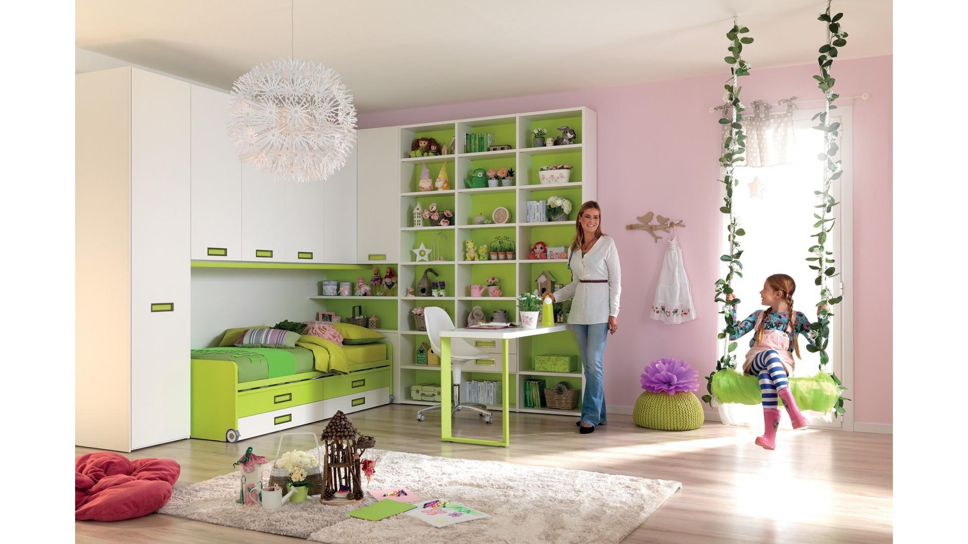 Chambre enfant avec lit tiroir PERSONNALISABLE KC402 - MORETTI COMPACT