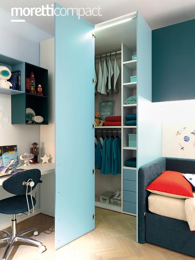 chambre d ado avec lit canape modulable moretti compact so nuit. Black Bedroom Furniture Sets. Home Design Ideas
