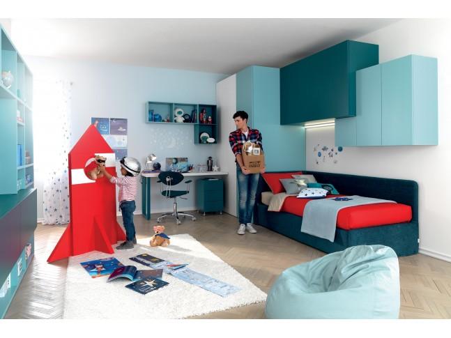 Chambre d ado avec canapé lit PERSONNALISABLE KC401 - MORETTI COMPACT