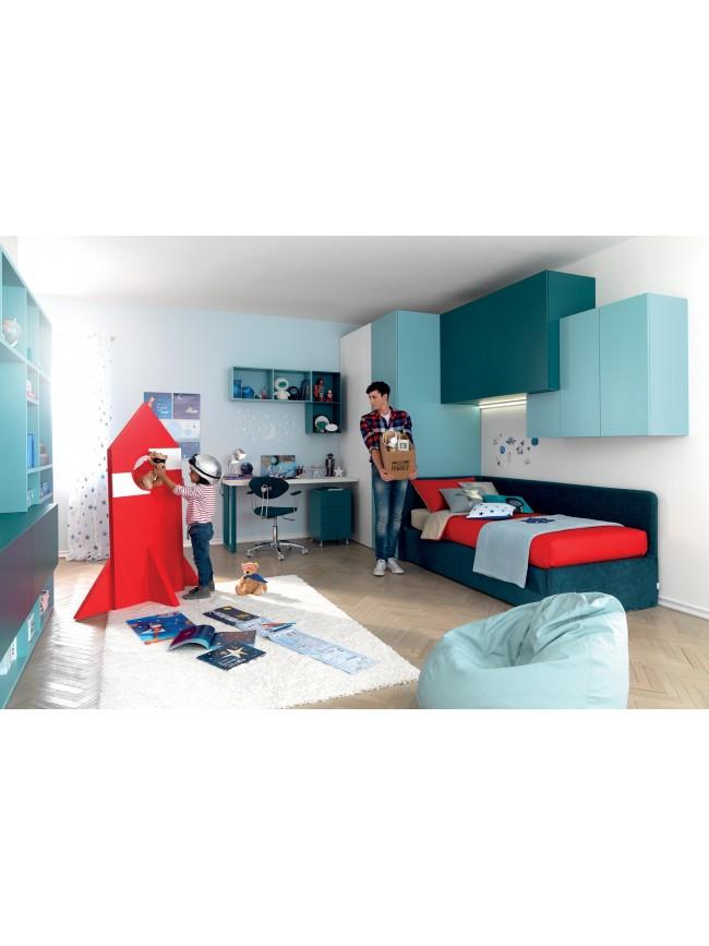 Lit mezzanine avec bureau moderne et fun glicerio so nuit - Canape lit pour chambre d ado ...