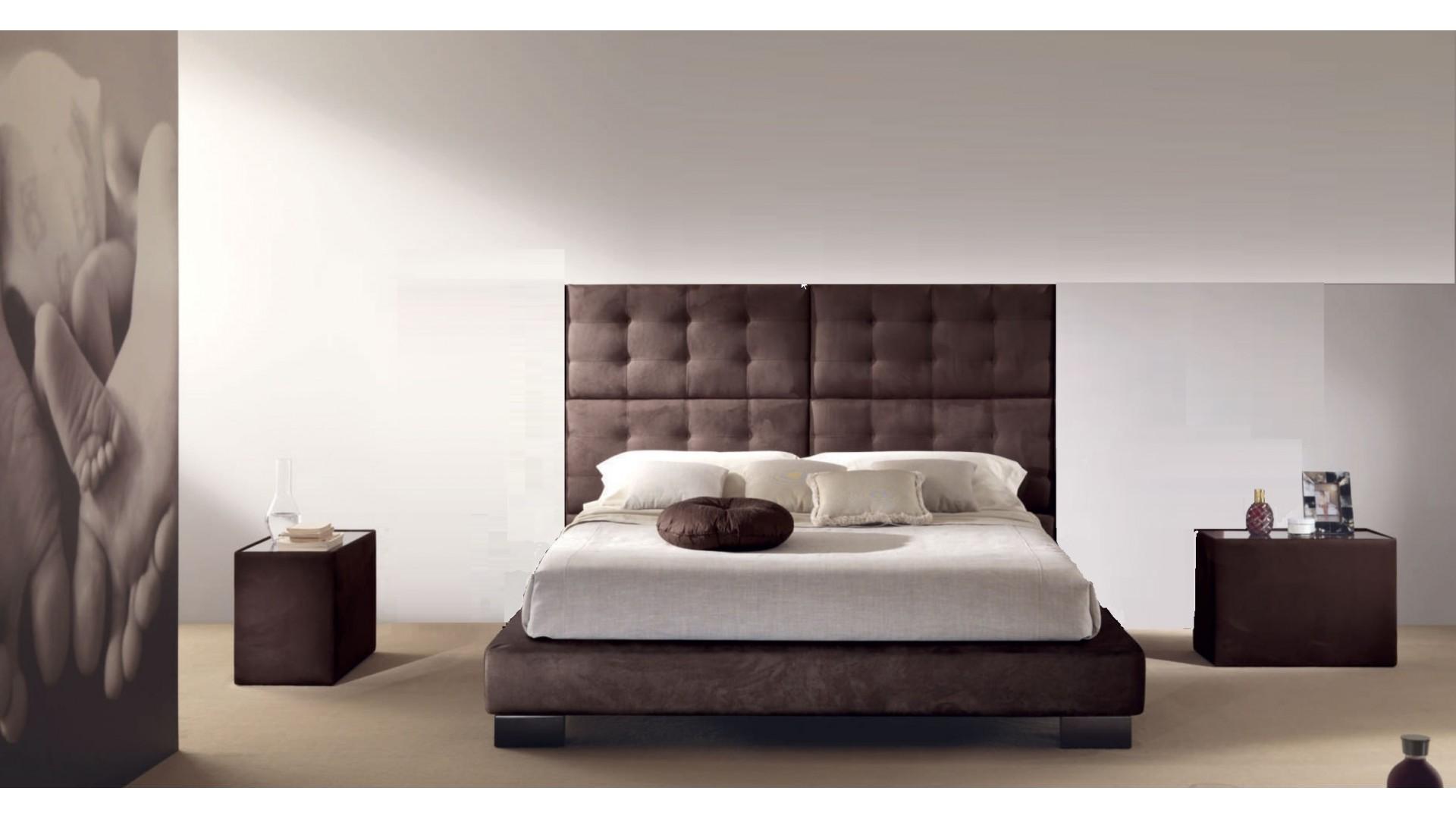 Lit double chambre à coucher Menhir personnalisé pour M. Gougis - PIERMARIA