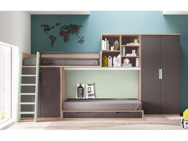 lit superpos d cal personnalisable avec tiroir de rangement. Black Bedroom Furniture Sets. Home Design Ideas