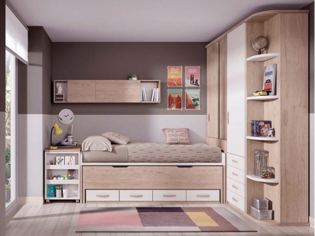 lit superpos avec rangement et personnalisable glicerio so nuit. Black Bedroom Furniture Sets. Home Design Ideas
