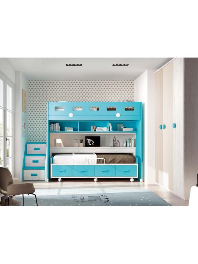 lits superpos s avec 6 tiroirs bureaux moretti compact so nuit. Black Bedroom Furniture Sets. Home Design Ideas