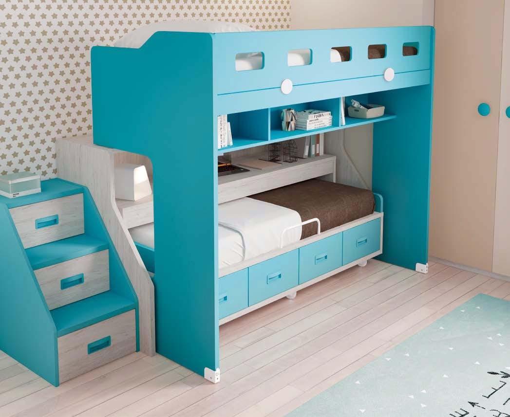 lit superpos pour enfant avec escalier glicerio so nuit. Black Bedroom Furniture Sets. Home Design Ideas