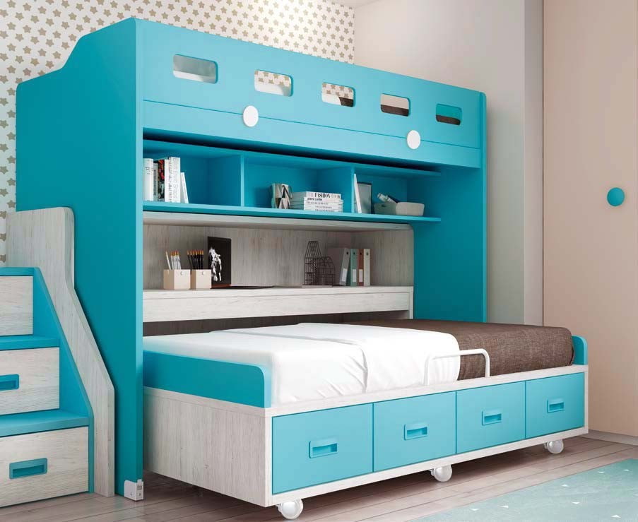 lit superpos pour enfant avec escalier glicerio so nuit. Black Bedroom Furniture Sets. Home Design Ideas