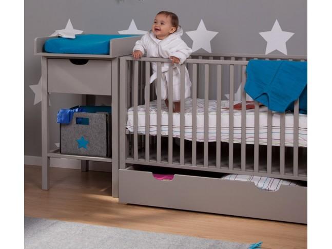 Lit pour bébé Ella avec roues 60x120cm - CHILDWOOD