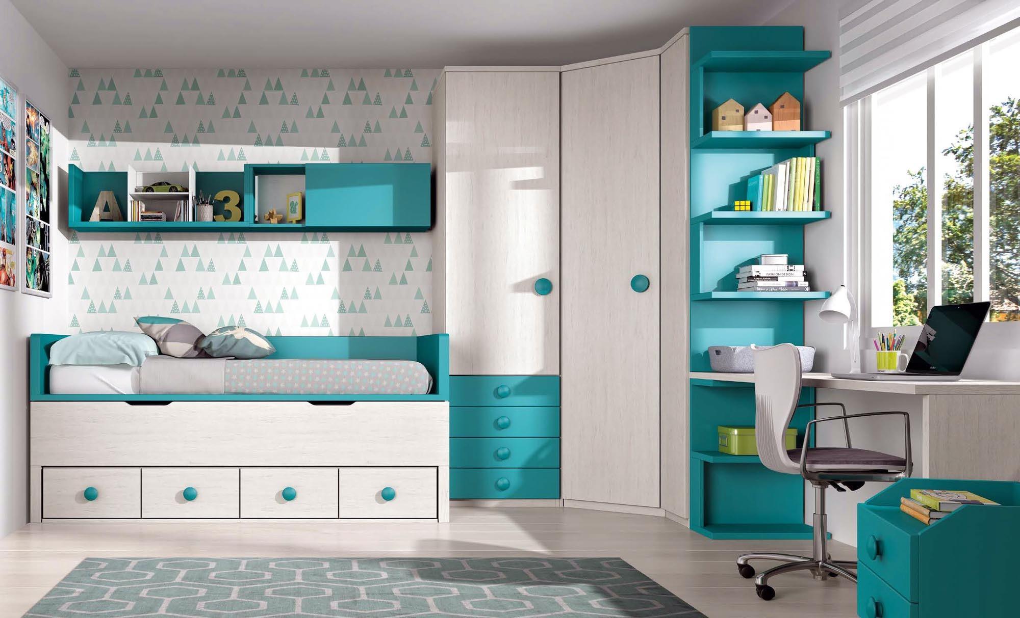 Chambre enfant complete avec bureau glicerio so nuit
