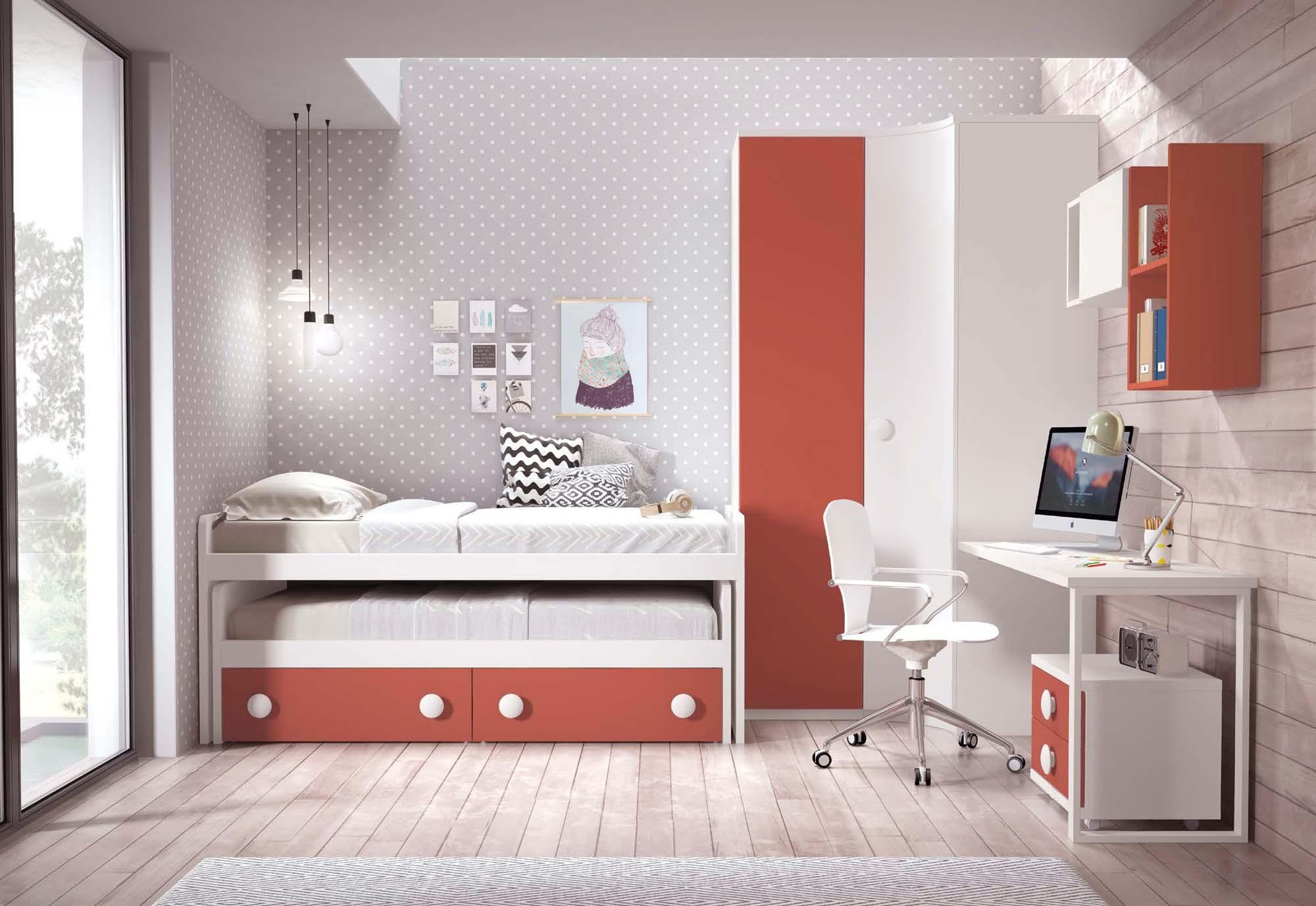 lit gigogne enfant avec rangements glicerio so nuit. Black Bedroom Furniture Sets. Home Design Ideas