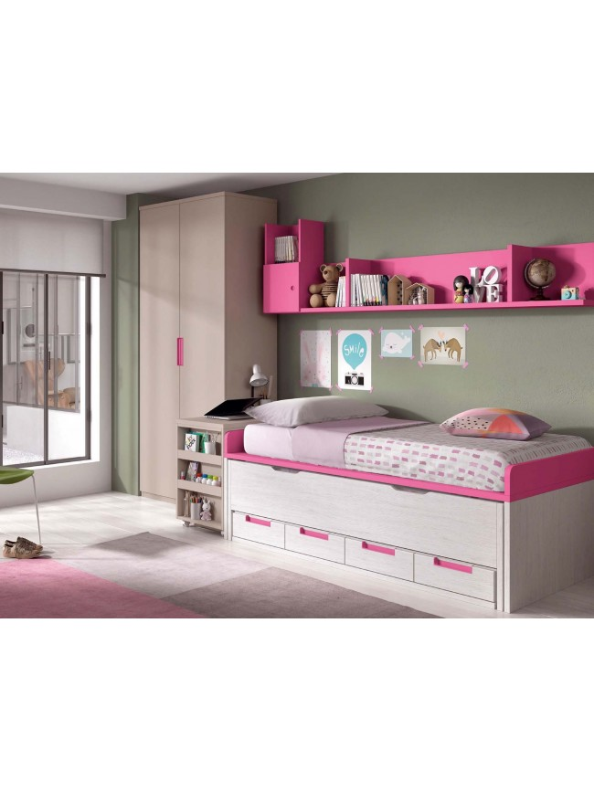 lit 1 personne lisbonne blanc chambre enfant ado lagrama. Black Bedroom Furniture Sets. Home Design Ideas
