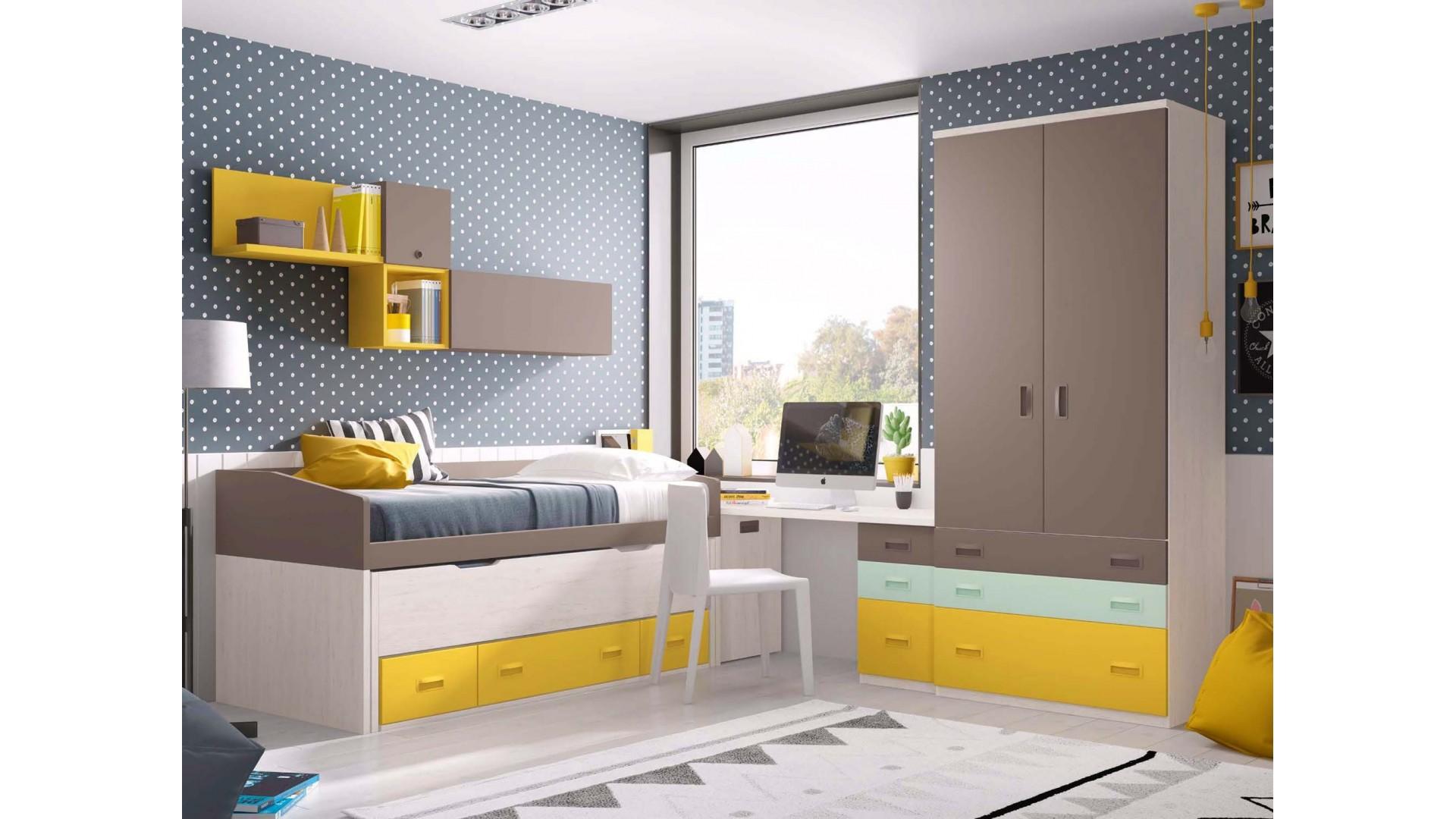 Chambre a coucher moderne PERSONNALISABLE F021- GLICERIO