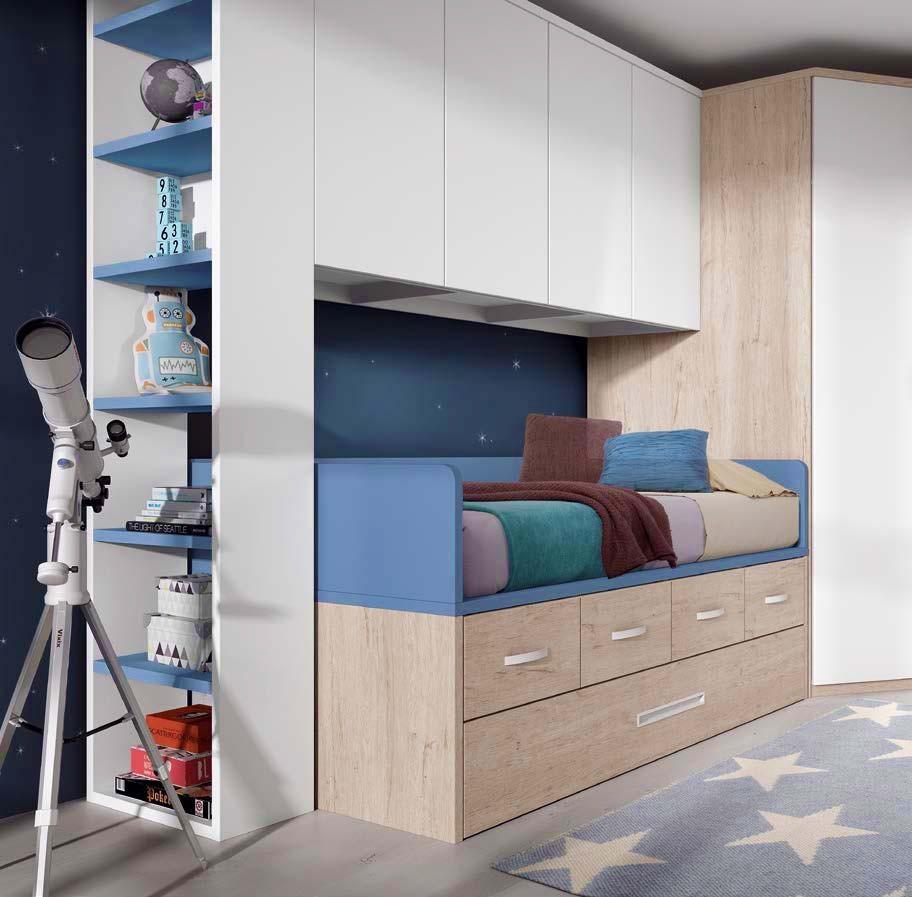 lit ado gar on avec rangements pratiques glicerio so nuit. Black Bedroom Furniture Sets. Home Design Ideas