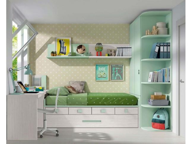 Lit pour enfant avec lit gigogne PERSONNALISABLE F024 - GLICERIO