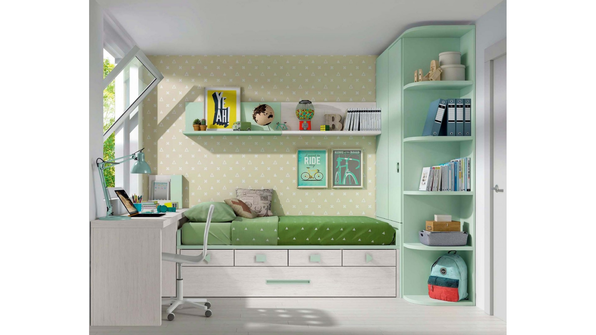 lit pour enfant ultra pratique gain de place glicerio. Black Bedroom Furniture Sets. Home Design Ideas
