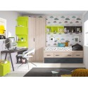 Chambre complete avec lit 5 coffres PERSONNALISABLE F026- GLICERIO