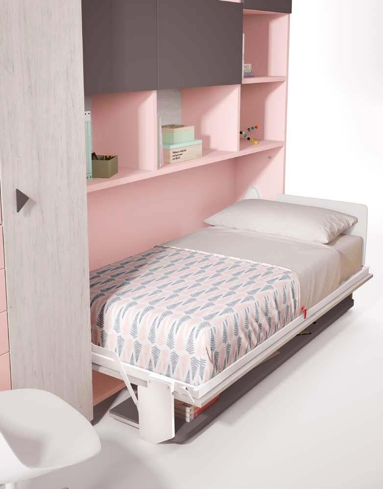lit escamotable enfant avec bureau glicerio so nuit. Black Bedroom Furniture Sets. Home Design Ideas