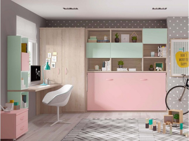 lit mezzanine avec bureau moderne et fun glicerio so nuit. Black Bedroom Furniture Sets. Home Design Ideas