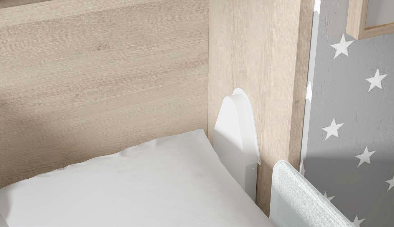 lit escamotable mural avec bureau glicerio so nuit. Black Bedroom Furniture Sets. Home Design Ideas