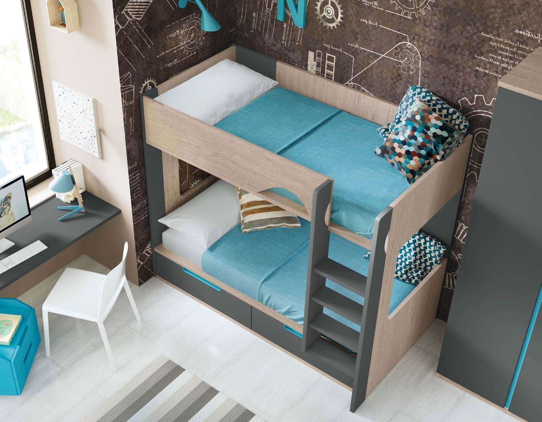 lit superpos avec bureau pour 2 enfants glicerio so nuit. Black Bedroom Furniture Sets. Home Design Ideas