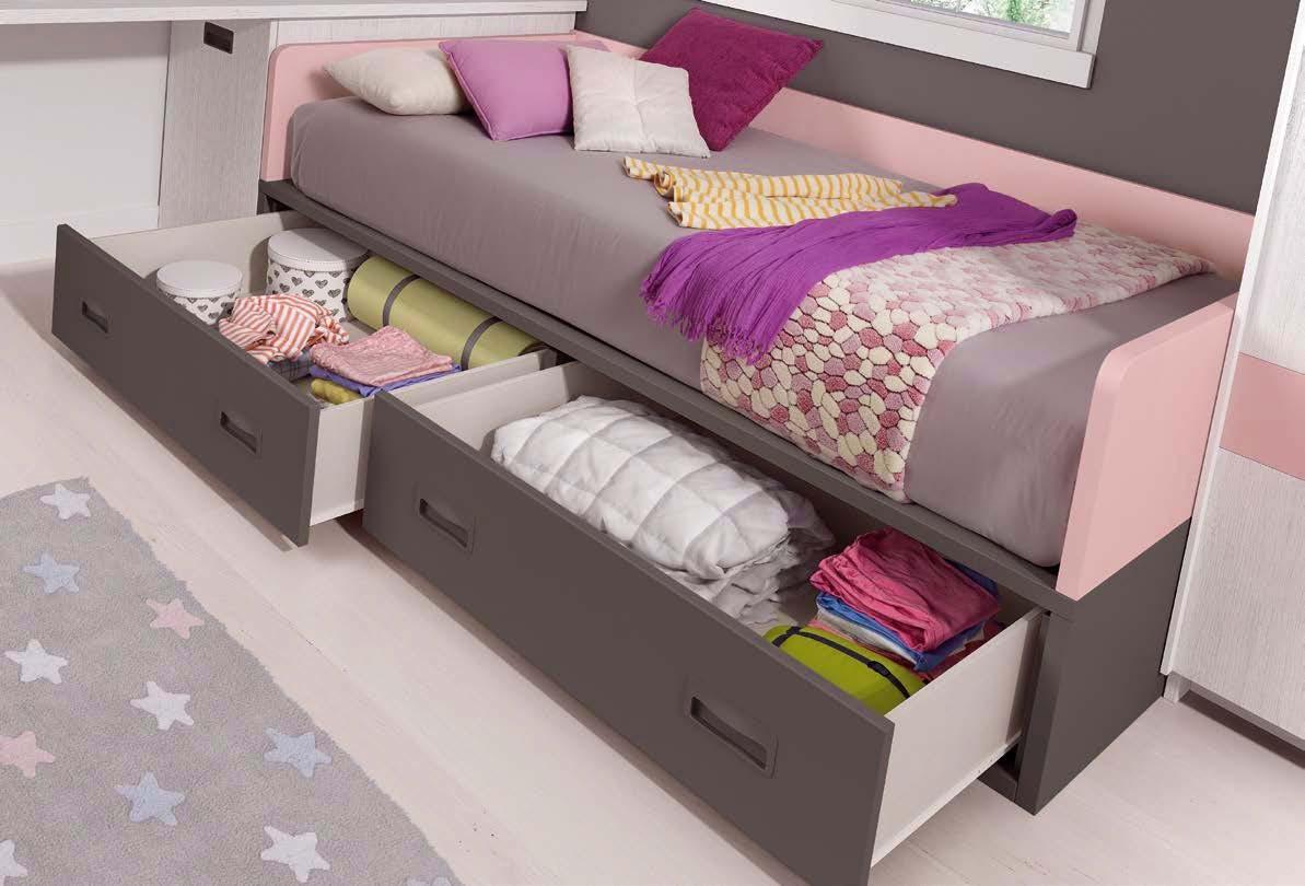 lit enfant avec rangement pratique glicerio so nuit. Black Bedroom Furniture Sets. Home Design Ideas