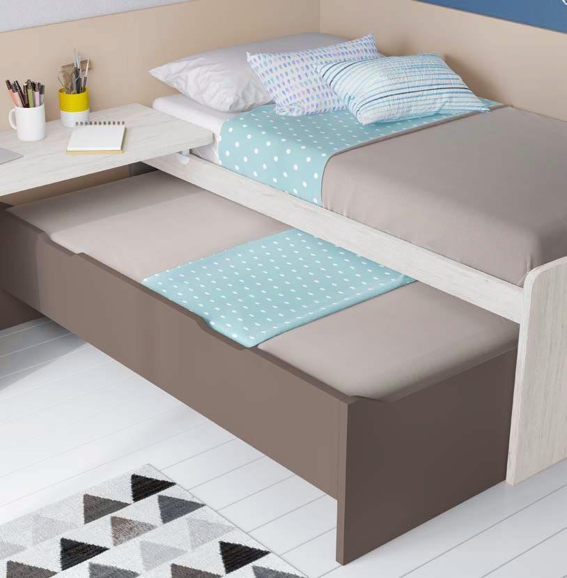 lit haut avec rangement pour ado glicerio so nuit. Black Bedroom Furniture Sets. Home Design Ideas