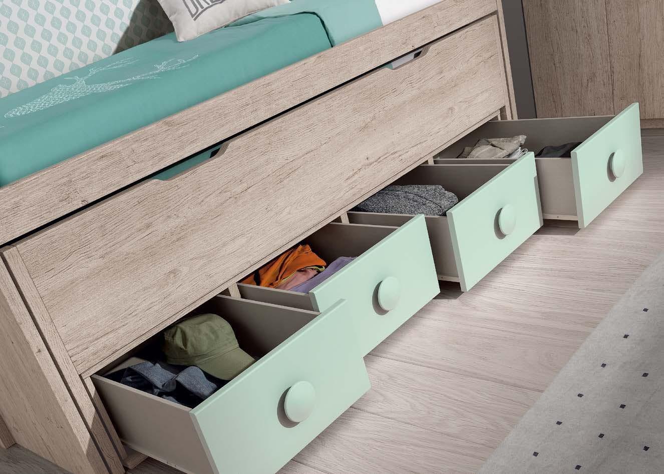 lit enfant mi hauteur et lit gigogne glicerio so nuit. Black Bedroom Furniture Sets. Home Design Ideas