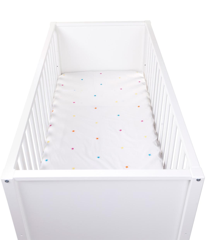 Drap de lit et taie d'oreiller Star brodé 100x150 Natti & Co - CHILDWOOD