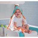 Cape de bain bébé + gant de toilette collection Jersey 80x80 Natti & Co - CHILDWOOD
