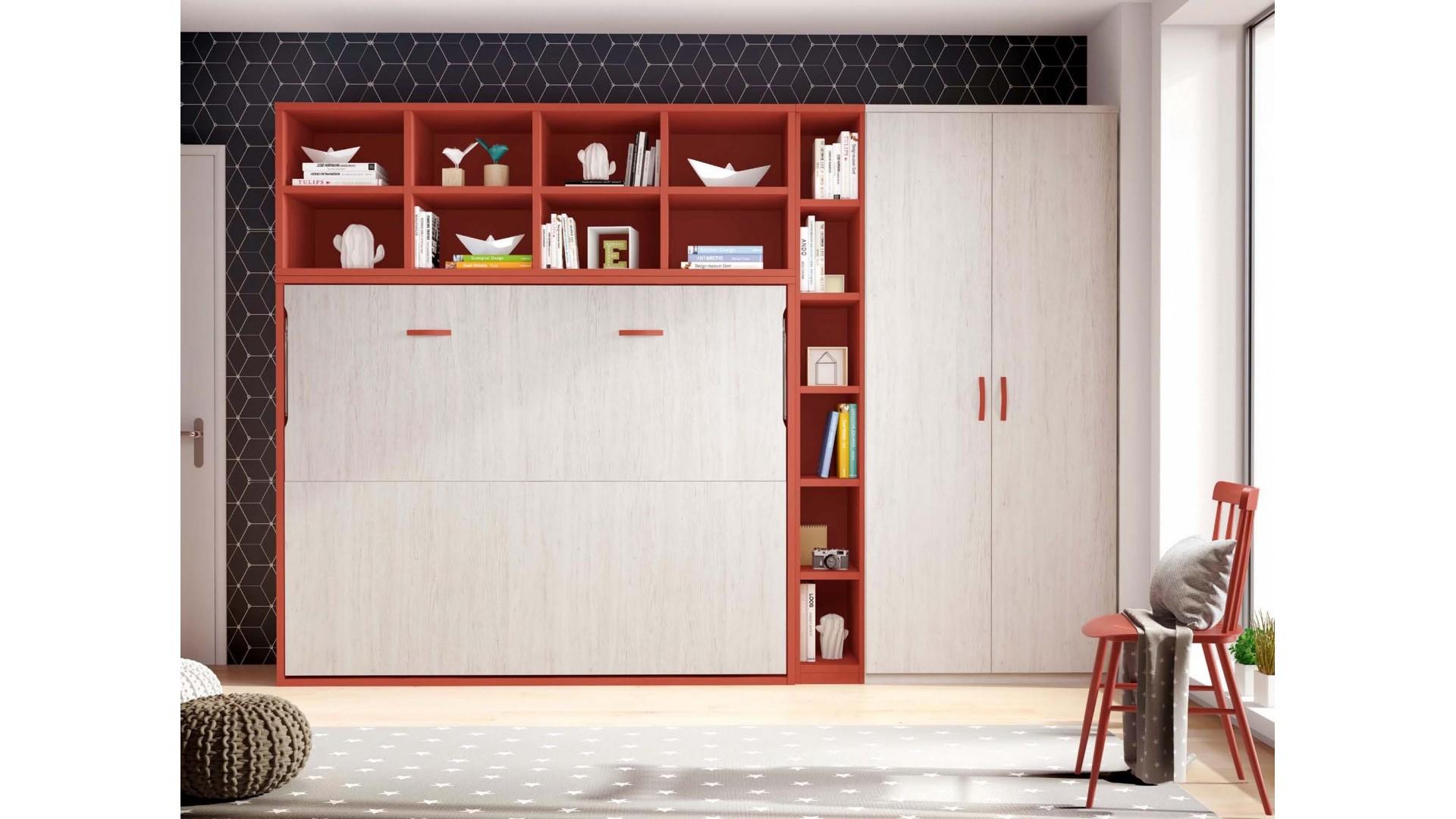 Lit armoire escamotable PERSONNALISABLE F414 - GLICERIO